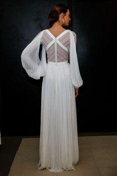 A model poses wearing J. Mendel Bridal Spring/Summer 2017 during the Presentation at J. Mendel Showroom on April 14, 2016 in New York City.