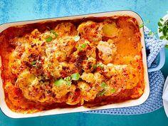 Blumenkohl-Kartoffelgratin zum Sattessen Rezept | LECKER Lasagna, My Favorite Food, Favorite Recipes, Ethnic Recipes, Salads, Food And Drink, Vegan, Ayurveda, Party