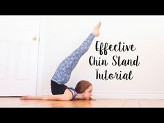 How to do a Chin / Chest Stand - YouTube