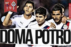 POTROS 1-3 CHIVAS    AMARRA PASE A OCTAVOS DE COPA El Guadalajara gana 3-1 en y se apodera del liderato del grupo 6 de la Copa MX. Al minuto 69 se calentaron los ánimos por una falta.