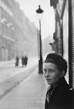 HENRI CARTIER-BRESSON Simone de Beauvoir. French writer. St. Germain des Pres. Paris, France, 1947
