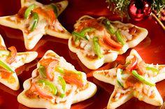 Minipizzas de Navidad, ¡qué aperitivo tan divertido! - Recetín