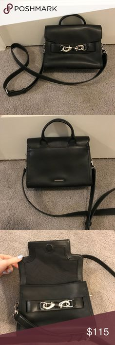 Rebecca minkoff Florence crossbody Super cute and classy crossbody bag in black! Pocket in the back for your items you need quick access to. Plenty of storage space in the main compartment. Rebecca Minkoff Bags Crossbody Bags