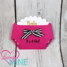 Kate Spade Hot Pink, Black & White Stripes and Gold Baby Shower Diaper Shaped Invitations - Set of 10 - Modern Girly - Fashionista, Designer Inspired by LovinglyMine on Etsy Kate Spade Inspired Party Theme
