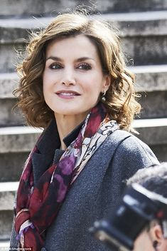 Letizia, 43, accompanied King Felipe to the opening of an exhibition on Miguel de Cervantes' work at the National Library in Madrid