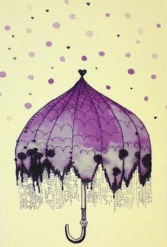 보라색 우산