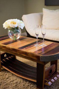 Wine Barrel Coffee/Wine Table
