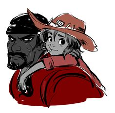 Dad Reaper and Younger!son McCree