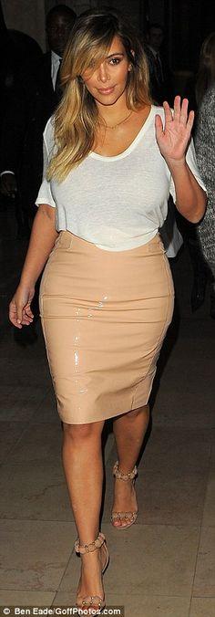 blush leather skirt