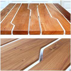 detalhe mesa baobá_madeira de demolição_peroba de campos | detail of baoba table_reclaimed wood_peroba de campos