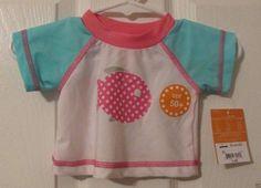 Baby girls Giggle Baby Swim Top. Tee Shirt UPF 50+, Size 0/3 Months, NWT's #GiggleBaby #SwimTop