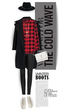 """""""Starting new"""" by ladrianag ❤ liked on Polyvore featuring Steve Madden, Jil Sander, Yves Saint Laurent, Kate Spade, Maison Michel and winterboots"""
