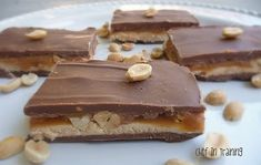 I'm giving these a try. I'll substitute almonds for the peanuts. Homemade Mars Bars.