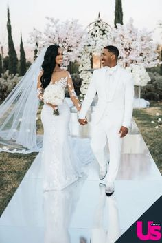 Marques Houston, Blue Wedding Dresses, Wedding Suits, Wedding Gowns, Wedding Bells, Boho Wedding, Small Celebrities, Black People Weddings, White Tuxedo Wedding