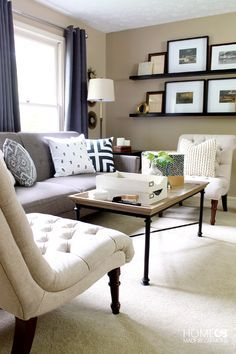 Living Room Refresh - Home Made by Carmona