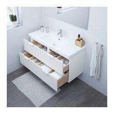GODMORGON / ODENSVIK Armario lavabo 4cajones - blanco - IKEA