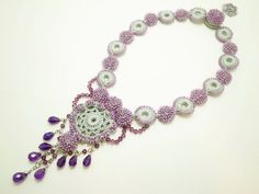 crochet and beads necklace
