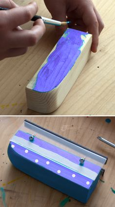 Magnetic Train Science: shape a wooden block into a fun train, assemble the special track, and explore how a maglev train works. It hovers! [Science Buddies, http://www.sciencebuddies.org/blog/2016/06/magnetic-train-science.php?from=Pinterest] #STEM #familyscience #summerscience #train #magnetism
