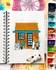 So here is the storefront you saw earlier on my feed! I'm still in Bosnia and having a great time. I have been painting a bit and enjoying… Shop Fronts, Gouache Painting, Bosnia, Magazine Art, Art Inspo, Cool Art, Spotlight, Artist, Buildings
