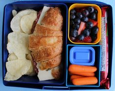Croissant Sandwich Laptop Lunch Bento