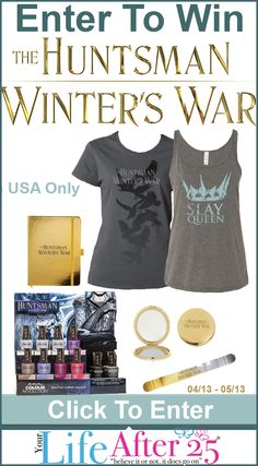 Enter to Win a #TheHuntsman Movie Fan Prize Pack via YourLifeAfter25! Ends 5/12. #Sweepstakes