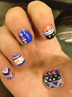 Tribal nails #tribal #nails #mainicure