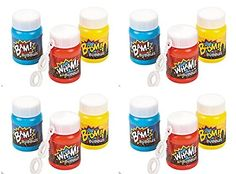 Plastic Action Packed Mini Bubble Bottles -24 Super Hero bubbles - http://partythings.com/plastic-action-packed-mini-bubble-bottles-24-super-hero-bubbles.html