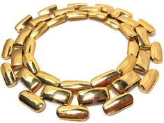 Vintage NAPIER Gold Bracelet Interlocking Fashion by JewlsinBloom