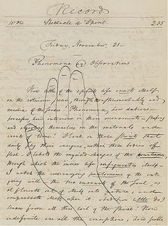 a tracing of Louisa May Alcott's hand made just before her second birthday