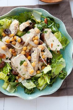 Moroccan Chicken Salad with Chickpeas and Apricots | Annie's Eats