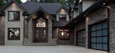 Home Exterior/Garage: Black Mountain®, PRO-FIT® ALPINE LEDGESTONE - Cultured Stone® Brand_Manufactured Stone Veneer