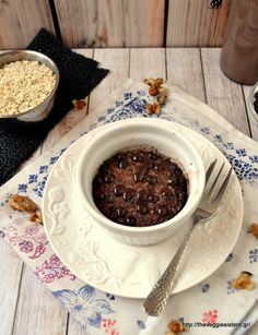 Tomorrow wake up and make this delicious banana choccolate muffin! The best way to start the day! Vegan Snacks, Healthy Desserts, Healthy Recipes, Vegan Food, What Recipe, Sweets Cake, Vegan Breakfast, Chocolate Fondue, Muffin