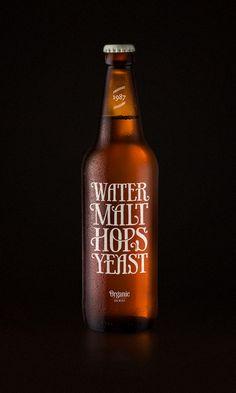 Water, malt, hops & yeast by Simon Ålander, via Behance