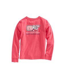 Girls Long-Sleeve Cupid Whale Pocket Tee