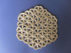 "Crochet Tutorials – Crochet pattern, Coaster ""Flower of Life&q... – a unique product by crochet4u on DaWanda"