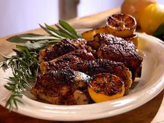 Lemon and Herb Marinated Grilled Chicken Thighs from FoodNetwork.com