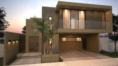 Fachada principal / Sur: Casas de estilo moderno por Nova Arquitectura #fachadasmodernassobrado