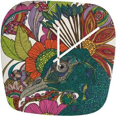 Valentina Ramos Alexis And The Flowers Modern Clock #coloroftheyear