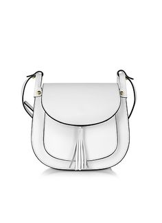 Le+Parmentier+Buttercup+White+Leather+Crossbody+Bag