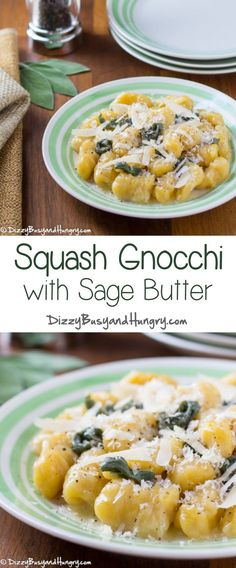Squash Gnocchi with Sage Butter #WeekdaySupper - Hearty yet tender dumplings packed with the nutritional goodness of butternut squash and drenched in a buttery sage sauce. One of the many awesome recipes in the #MadHungryFamily cookbook! http://www.dizzybusyandhungry.com/squash-gnocchi-with-sage-butter/