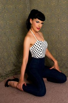 Pin up era styles for men and women | All pictures with friendly permission by http://rockabilly-clothing.de