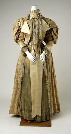 Dress Date: 1894–95 Culture: French Medium: cotton, silk Dimensions: [no dimensions available] Credit Line: Gift of Susan Dwight Bliss, 1935