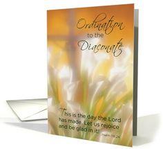 Diaconate Ordination, Congratulations New Deacon Ordained card