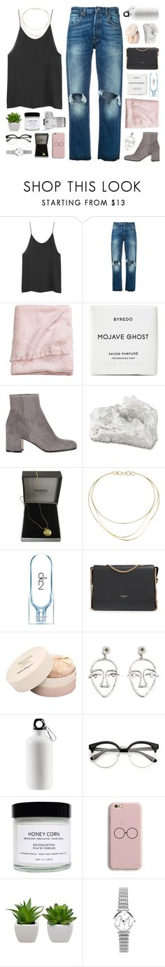 """""""Let me see what spring is like on Jupiter and Mars"""" by justonegirlwithdreams ❤ liked on Polyvore featuring Levi's, H&M, Byredo, Gianvito Rossi, Eos, Chanel, Tiffany & Co., Calvin Klein, Nina Ricci and Salvatore Ferragamo"""