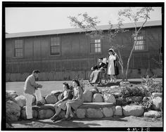At the outset of World War II, the American government feared subversive actions by Japanese-American citizens and began moving them to relocation camps.