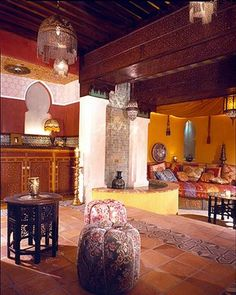 Mediterranean Living Photos Moroccan Living Room Design, Pictures, Remodel, Decor and Ideas - page 5