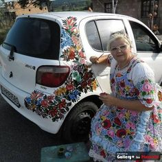 hand painted car