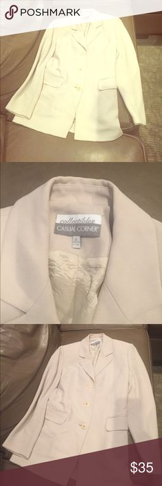 Great blazer for work or play Amazing blazer, minor dirt  that is removable but I didn't wash it casual corner  Jackets & Coats Blazers