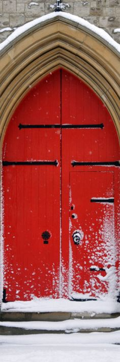 Red Door, white snow #myobsessionwithreddoors