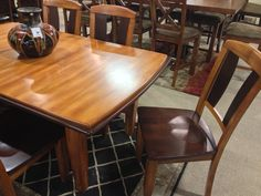 Urbandale 5 Piece Dining Set Includes Room Extension Table Side Chair